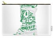 Jayson Tatum Boston Celtics Pixel Art 11 Carry-all Pouch