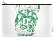 Jayson Tatum Boston Celtics Pixel Art 12 Carry-all Pouch