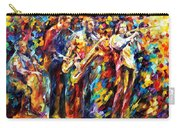Jazz Band - Palette Knife Oil Painting On Canvas By Leonid Afremov Carry-all Pouch
