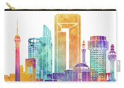 Jeddah Landmarks Watercolor Poster Carry-all Pouch