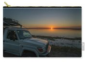 Jeep Driver Watching Sunset Over Peaceful River Carry-all Pouch