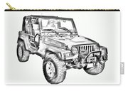 Jeep Wrangler Rubicon Illustration Carry-all Pouch