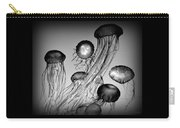 Jellyfish In Monochrome Carry-all Pouch