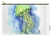 Jellyfish Watercolor Carry-all Pouch