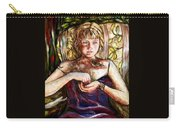 Girl And Bird Painting Carry-all Pouch