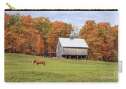 Jericho Hill Vermont Horse Barn Fall Foliage Carry-all Pouch