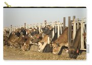 Jersey Cows Feeding Carry-all Pouch