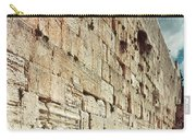 Jerusalem  Wailing Wall - To License For Professional Use Visit Granger.com Carry-all Pouch