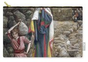 Jesus And His Mother At The Fountain Carry-all Pouch by Tissot