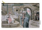 Jesus And The Little Child Carry-all Pouch by Tissot