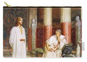 Jesus Being Interviewed Privately Carry-all Pouch by William Brassey Hole