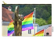 Jesus Christ Crucifixion And Gay Pride Flags View Carry-all Pouch