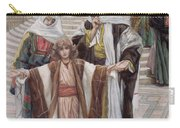 Jesus Found In The Temple Carry-all Pouch by Tissot
