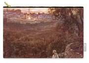 Jesus On The Mount Of Olives Carry-all Pouch by William Brassey Hole