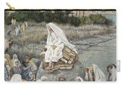 Jesus Preaching By The Seashore Carry-all Pouch by Tissot