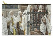 Jesus Unrolls The Book In The Synagogue Carry-all Pouch