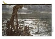 Jesus Walking Upon The Sea Carry-all Pouch by William Brassey Hole