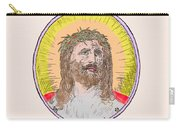 Jesus With The Crown Of Thorns Carry-all Pouch