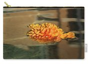 Jewel Drops - Orange Chrysanthemum Bloom Floating In A Fountain Carry-all Pouch