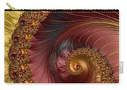Jewel Gold  Fractal Spiral  Carry-all Pouch