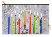 Jewish Holiday Hannukah Symbols - Menorah Carry-all Pouch