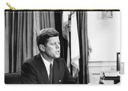 Jfk Addresses The Nation  Carry-all Pouch by War Is Hell Store