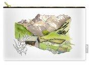 High Pastures,   Col De La Cayolle Carry-all Pouch