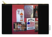 Jim Beam Signs On Display Carry-all Pouch
