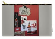 Jim Beam's Old Crow And Red Stag Signs Carry-all Pouch