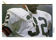 Jim Brown, Cleveland Browns, Signed Carry-all Pouch