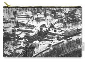 Jim Thorpe Pennsylvania In Winter In Black And White Carry-all Pouch