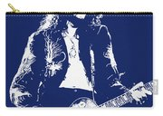 Jimmy Page In Blue Portrait Carry-all Pouch