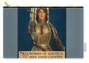 Joan Of Arc World War 1 Poster Carry-all Pouch