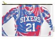 Joel Embiid Philadelphia Sixers Pixel Art 10 Carry-all Pouch