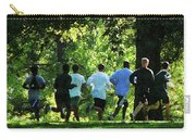 Joggers In The Park Carry-all Pouch by Susan Savad