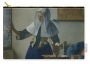 Johannes Vermeer Young_woman Carry-all Pouch
