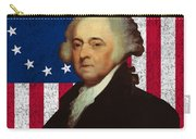 John Adams And The American Flag Carry-all Pouch by War Is Hell Store