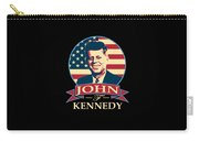 John F Kennedy American Banner Pop Art Carry-all Pouch