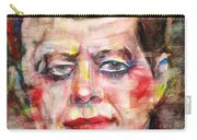John F. Kennedy - Watercolor Portrait.3 Carry-all Pouch