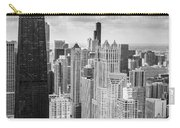 John Hancock Building In The Gold Coast Black And White Carry-all Pouch