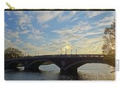 John Weeks Bridge Harvard Square Chales River Sunset Carry-all Pouch