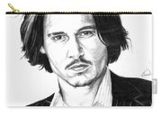 Johnny Depp Portrait Carry-all Pouch