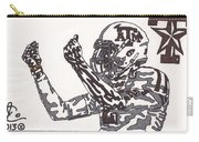 Johnny Manziel 10 Change The Play Carry-all Pouch by Jeremiah Colley