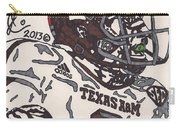 Johnny Manziel 5 Carry-all Pouch by Jeremiah Colley