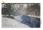 Johnson Vermont In Spring Snow Storm Carry-all Pouch