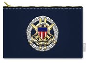 Joint Chiefs Of Staff - J C S Identification Badge On Blue Velvet Carry-all Pouch