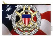 Joint Chiefs Of Staff - J C S Identification Badge Over U. S. Flag Carry-all Pouch