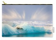 Jokulsarlon Glacier Lagoon Carry-all Pouch by Susan Leonard