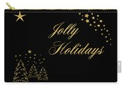 Jolly Holidays Gold Sparkle Carry-all Pouch