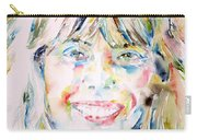 Joni Mitchell - Watercolor Portrait Carry-all Pouch